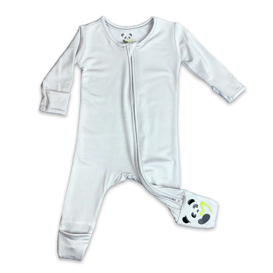 Grey Unisex Convertible Footie / Long Sleeve Onesie