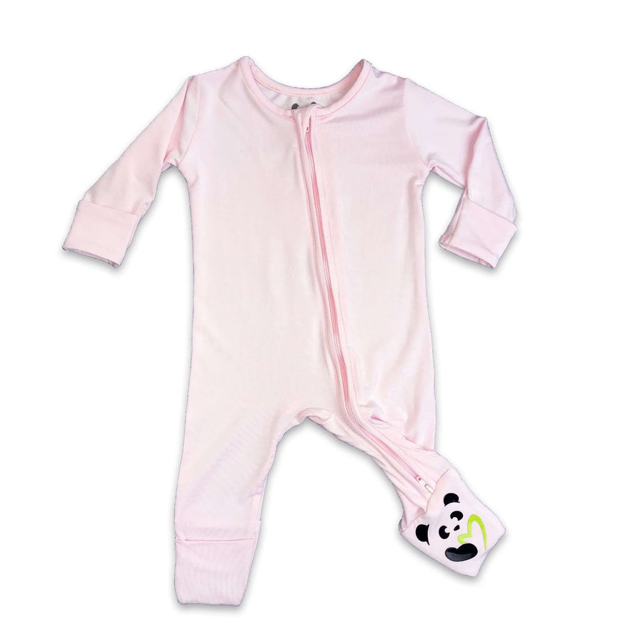 Pink Unisex Convertible Footie / Long Sleeve Onesie