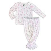 Bamboo Baby Pajamas Pink Ballerina boys girls Unisex Two-piece Set