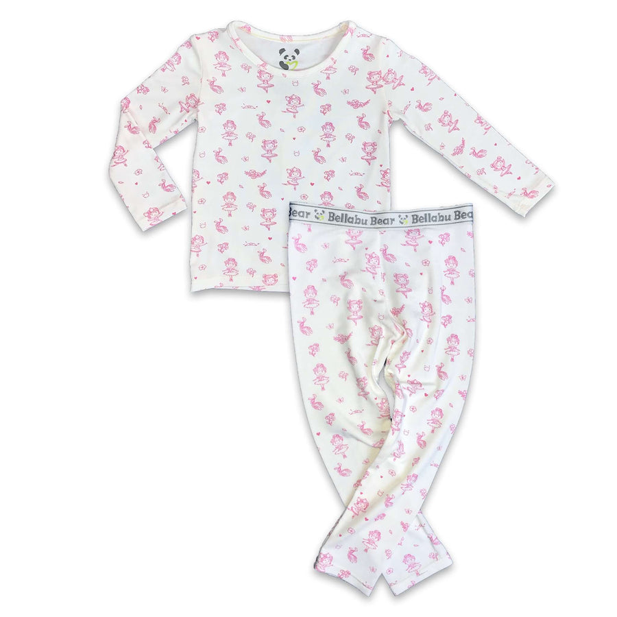 Pink Ballerina boys girls Unisex Two-piece Long Sleeve Set