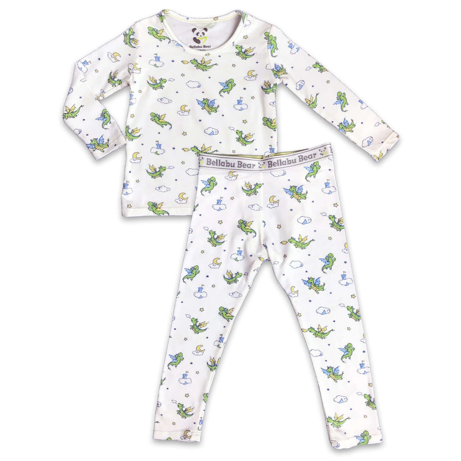 Green Dragon boys girls Unisex Two-piece Long Sleeve Set