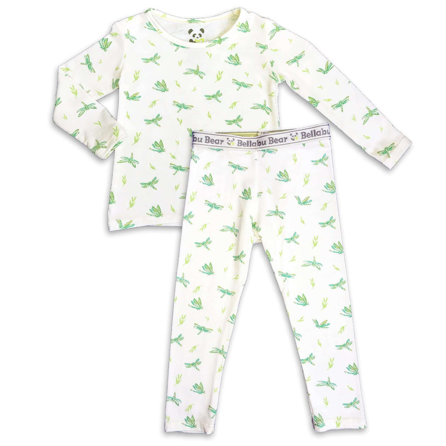 Green Dragonfly boys girls Unisex Two-piece Long Sleeve Set