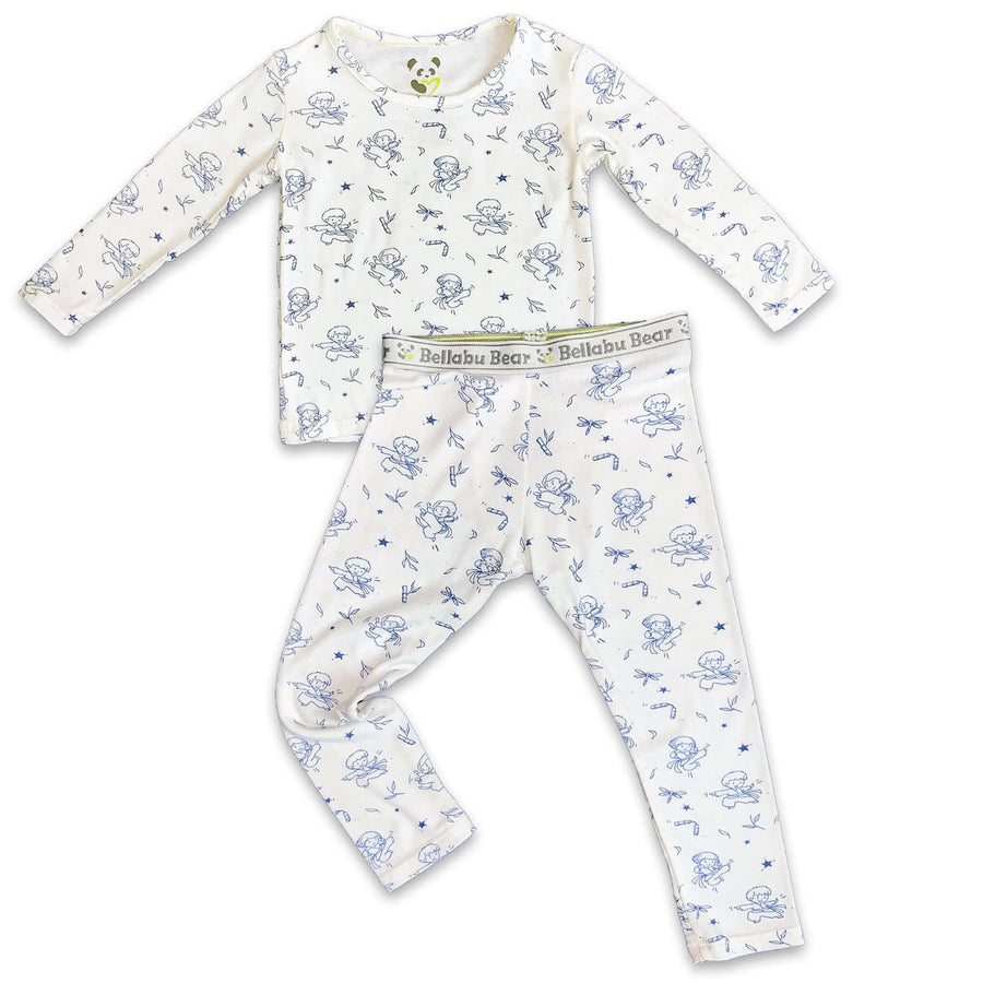 Blue Ninja boys girls Unisex Two-piece Long Sleeve Set