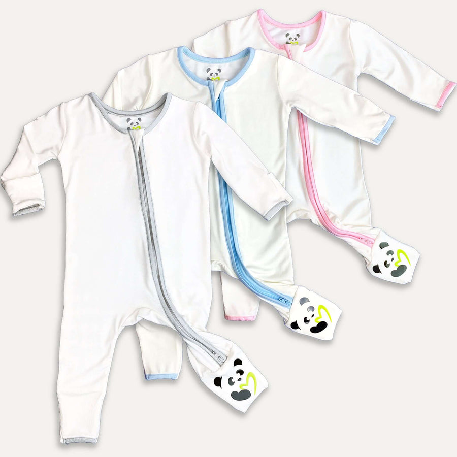 bamboo baby pajamas, convertible footie pajama, bamboo baby romper, soft baby clothes, eczema baby clothes, soft sleepwear for baby, organic baby clothing