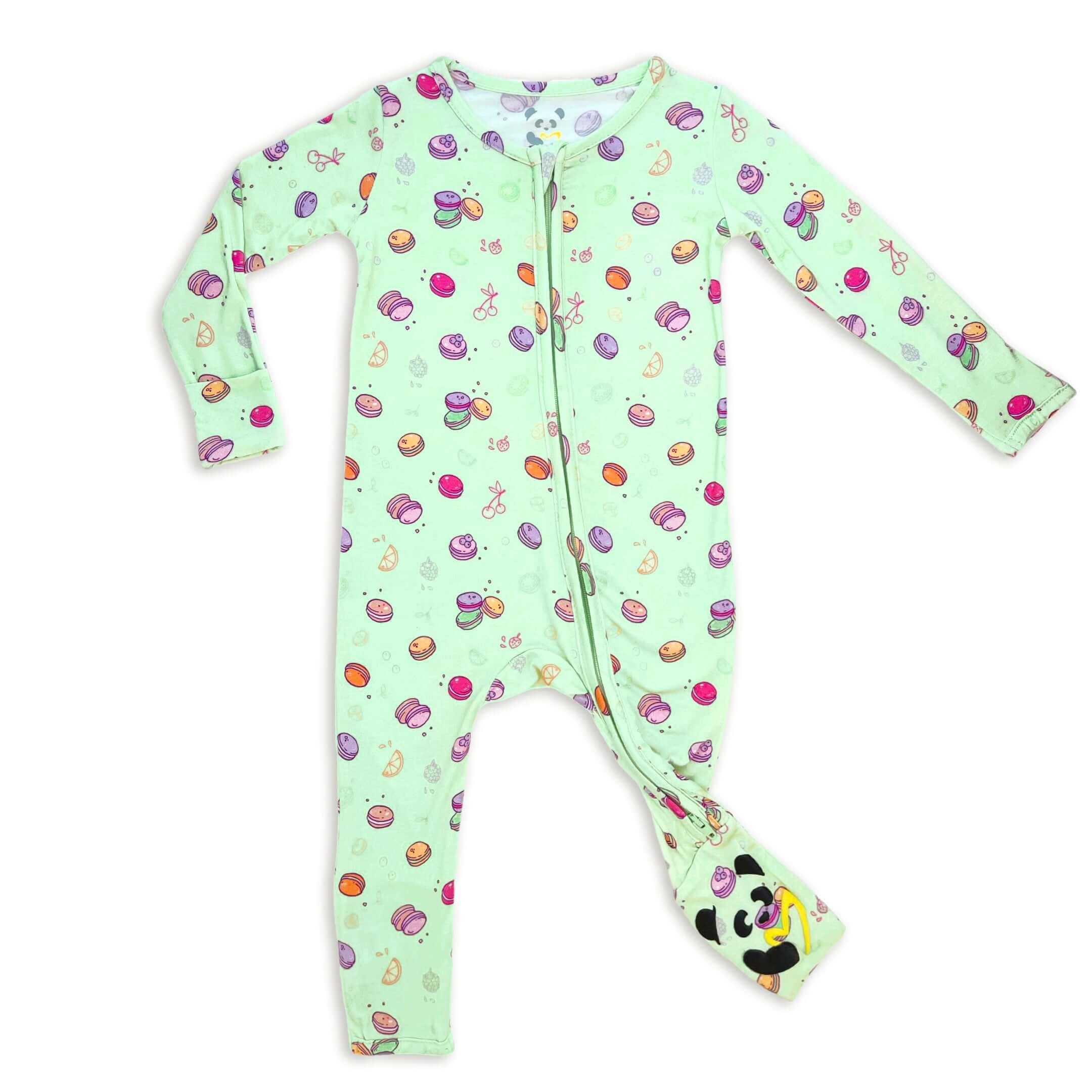 LIMITED EDITION! Macaron Bamboo Convertible Footie - 3-6 Months