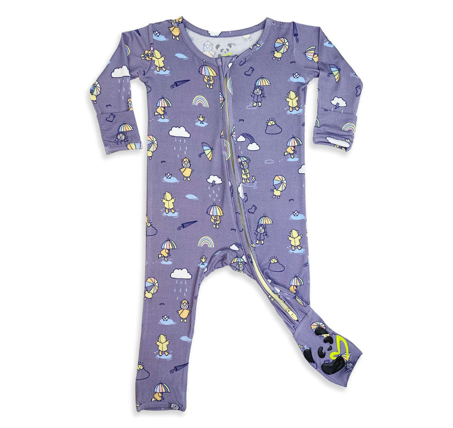 NEW! Rainbow Bear Bamboo Convertible Footie
