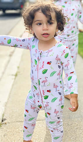 NEW! Flamingo Bamboo Convertible Footie