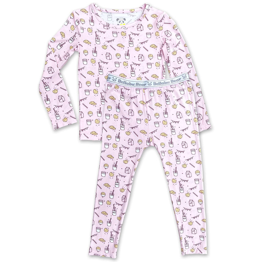 Soft Baby Pajama Milk and Cookies Unisex Two pieces set matching