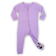 bamboo baby pajamas, purple lavender baby clothes, convertible footie pajama, bamboo baby romper, soft baby clothes, eczema baby clothes, soft sleepwear for baby, organic baby clothing