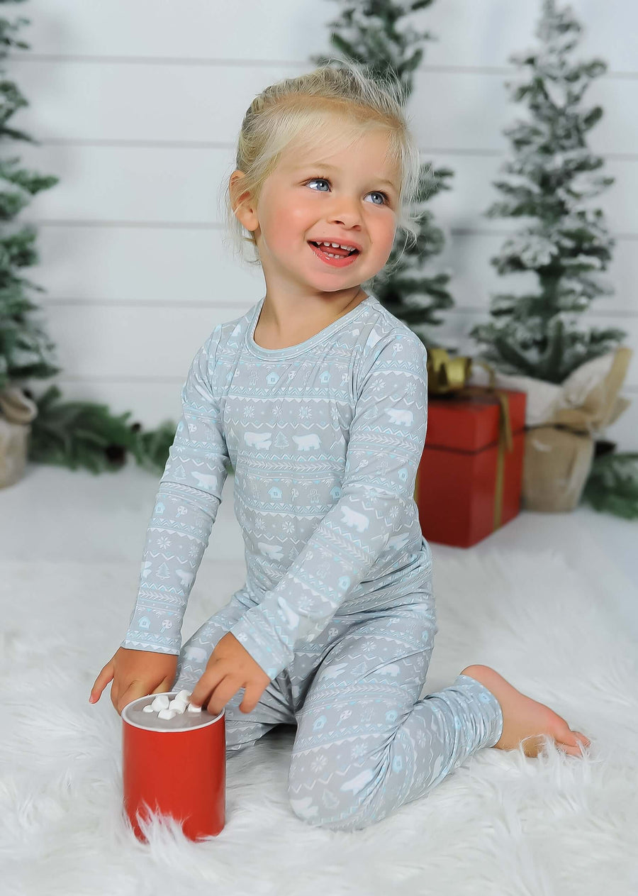 Limited Edition! Polar Isle Bamboo Kids Pajamas Two-Piece Set