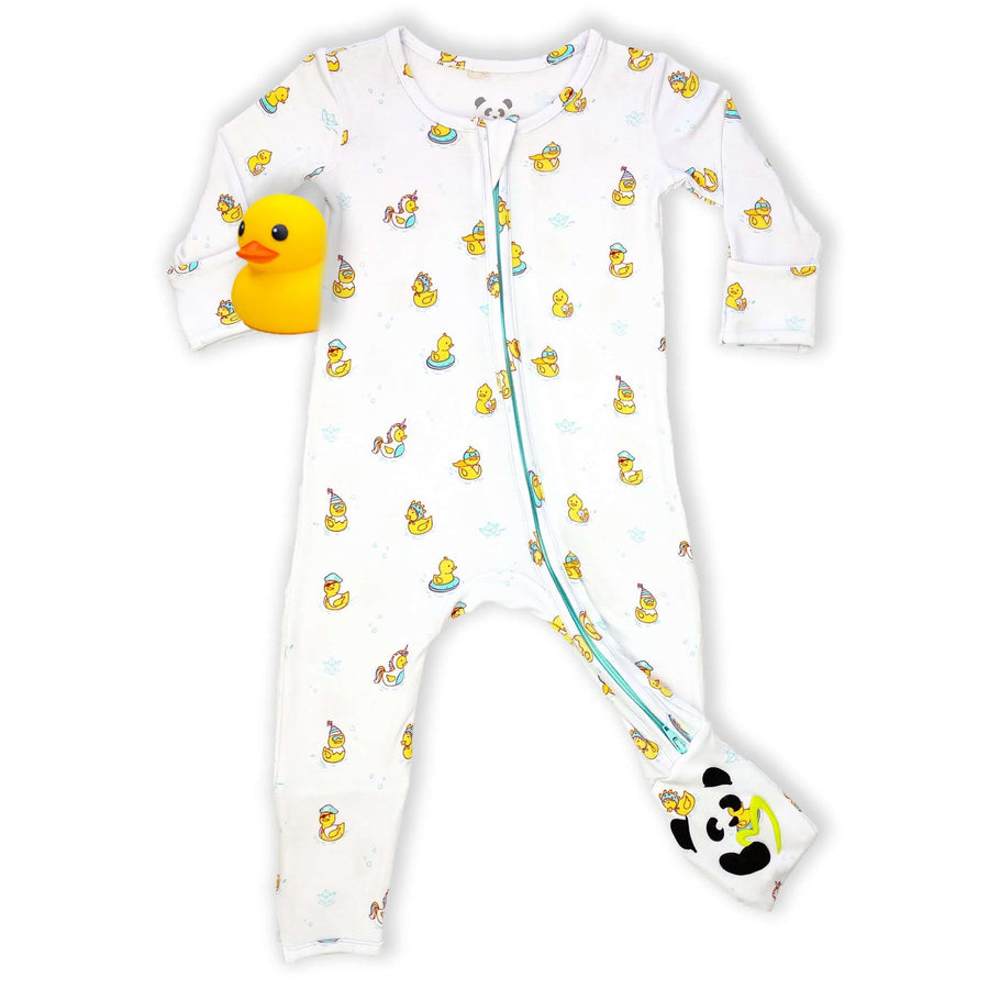 NEW! Rubber Ducky Bamboo Convertible Footie