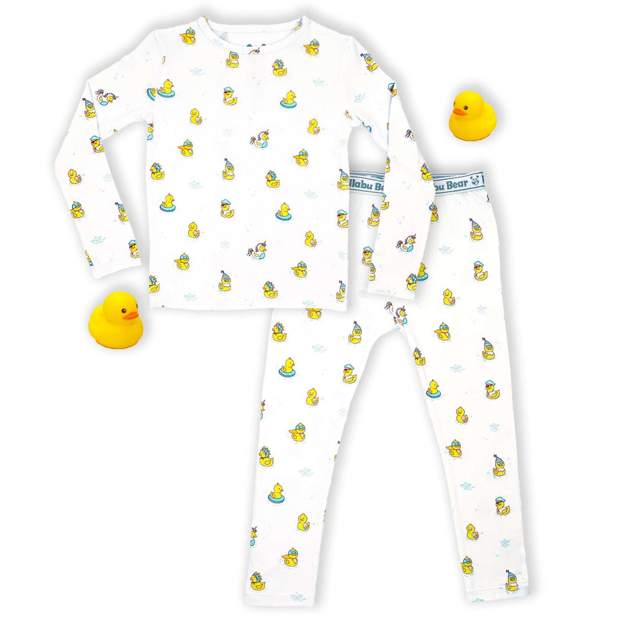 NEW! Rubber Ducky Bamboo Two-Piece Set