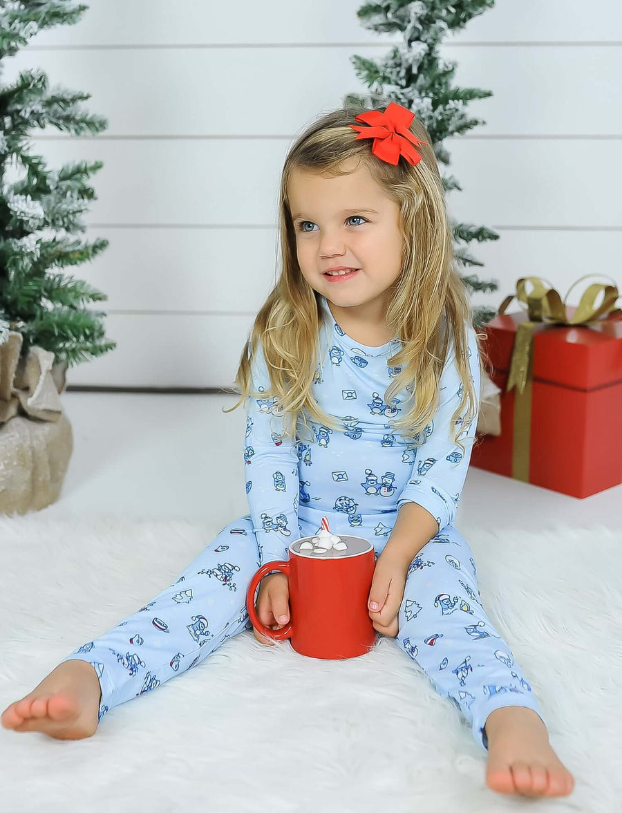 Limited Edition! Winter Wonderland Bamboo Kids Pajamas Two-Piece Set