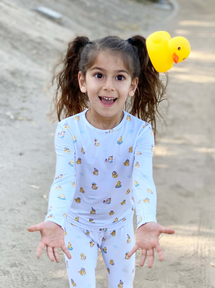 Rubber Ducky Bamboo Kids Pajamas
