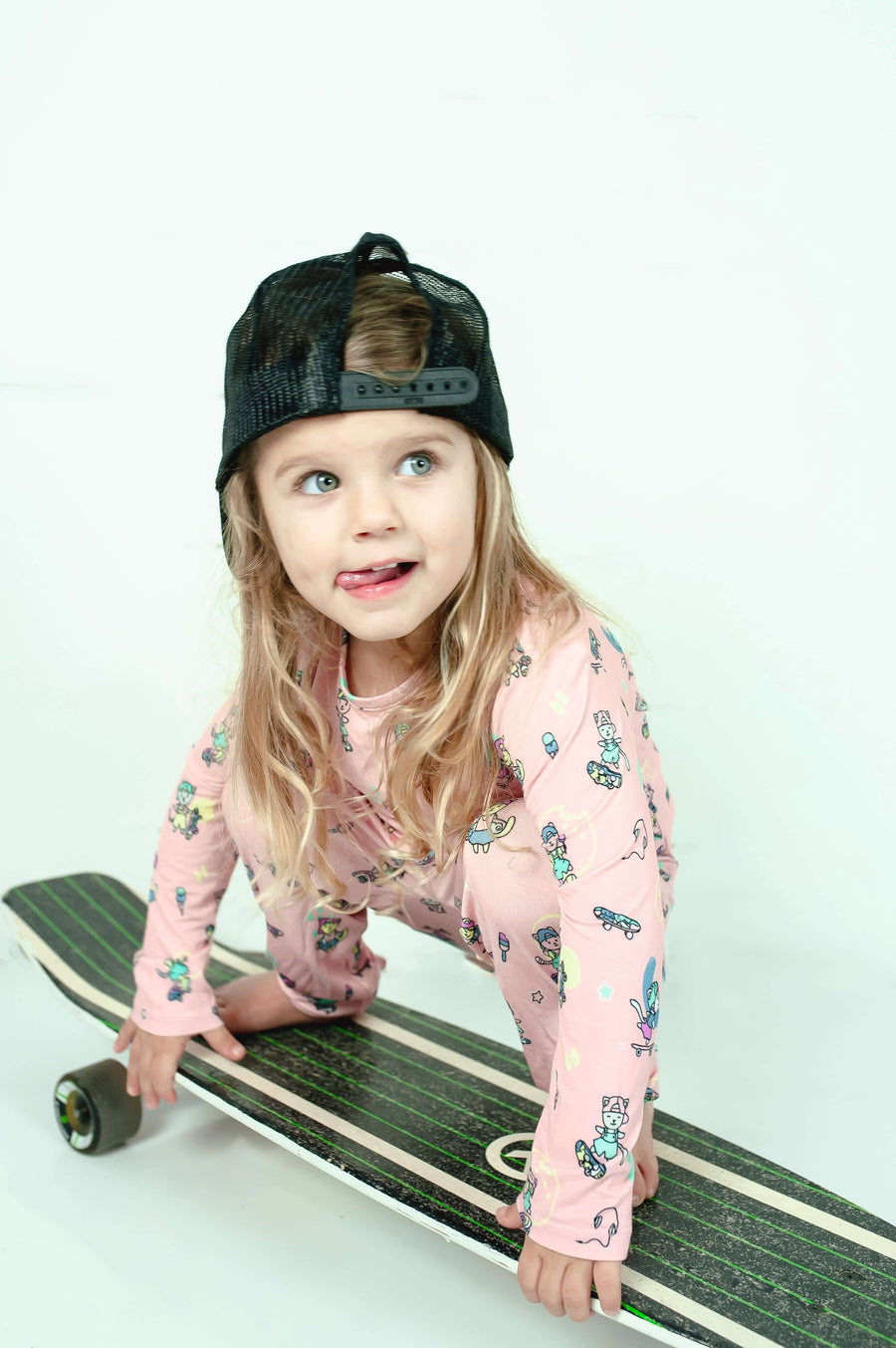 Limited Edition! Skater Kitty Bamboo Kids Pajamas