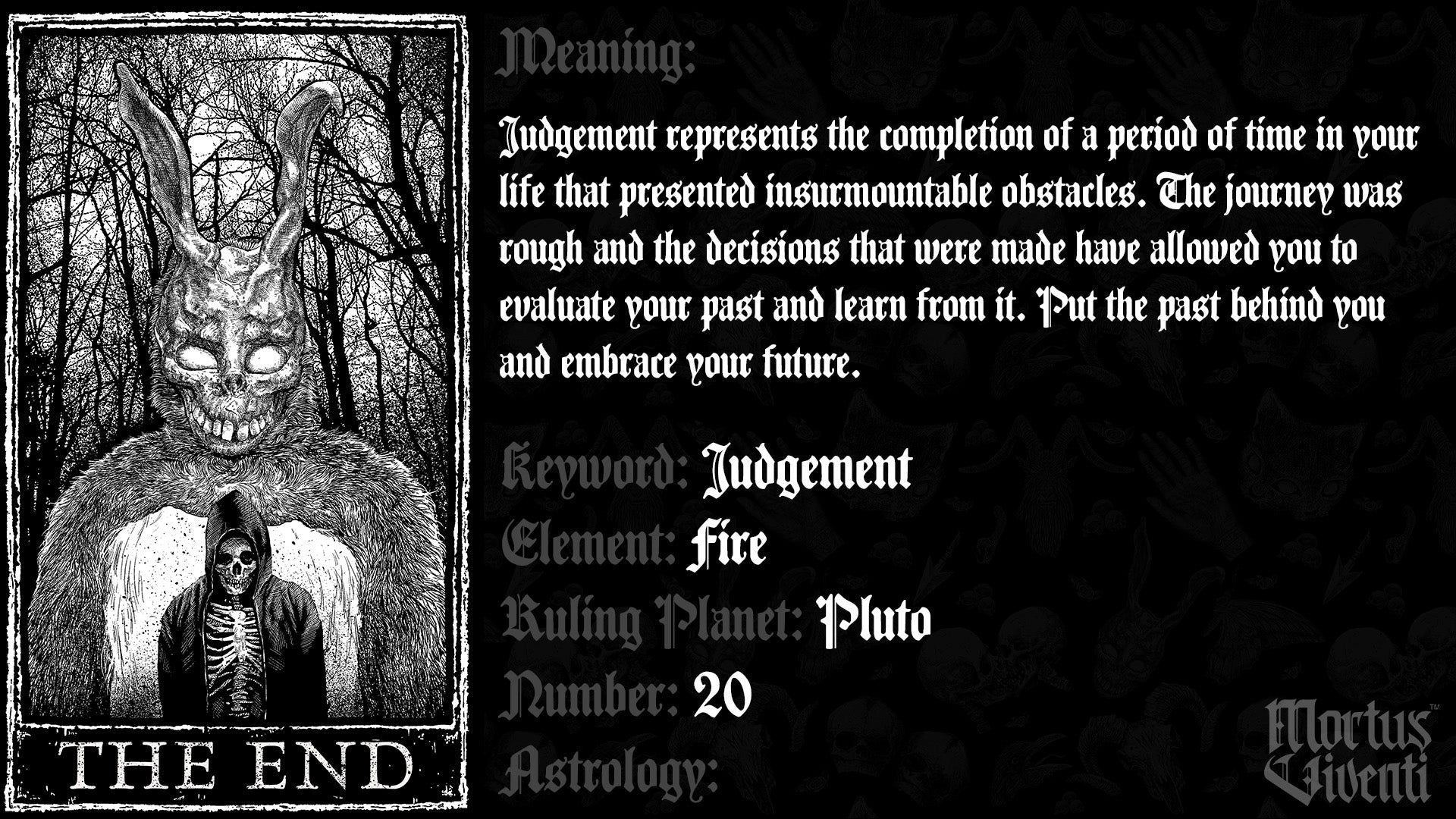 The End Tarot Card Meaning