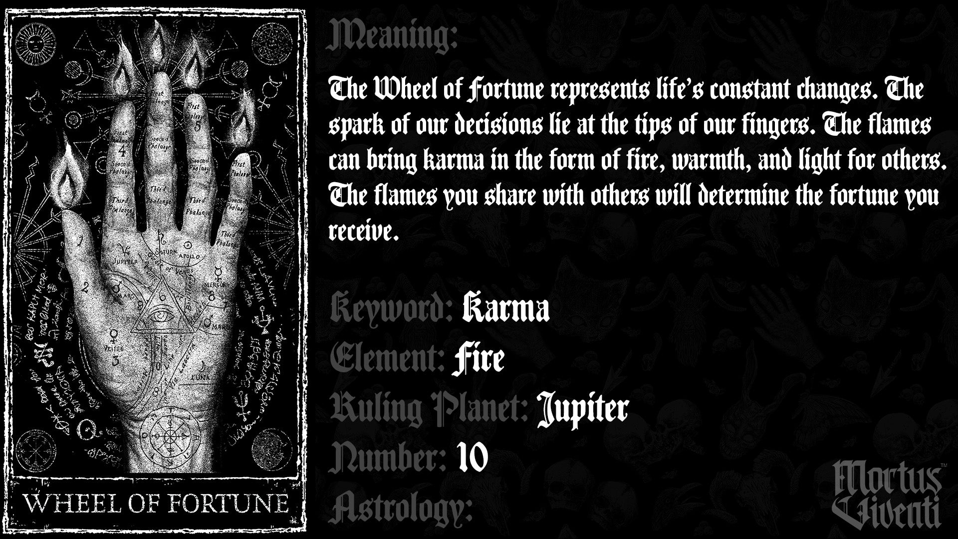 Wheel of Fortune Tarot Card Meaning Mortus Viventi