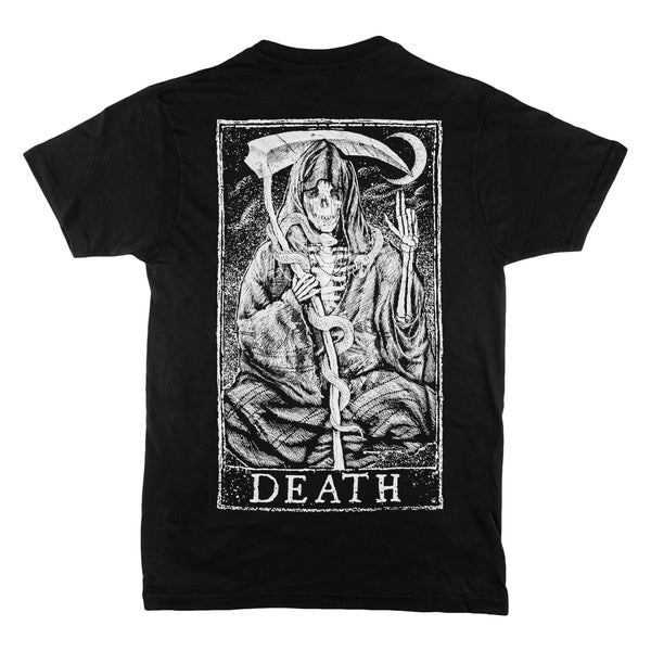 Death Tarot Design Back Print T-Shirt