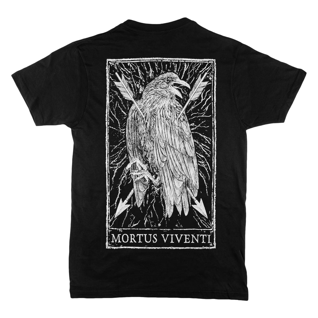 Mortus Viventi Tarot Design Back Print T-Shirt