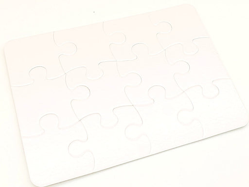 12 piece white jigsaw puzzle