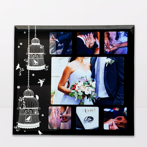 Multi Aperture Photo Frame 7 Photo Desk Frame with wedding photos