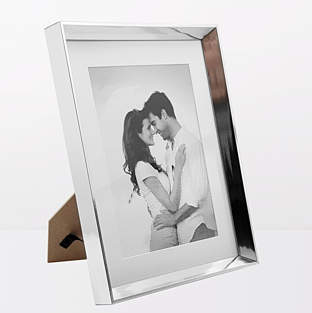 Silver Photo Frame with 5x7 photo print