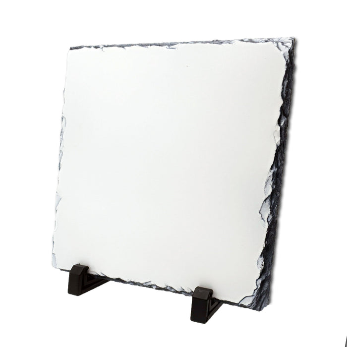 blank square Photo Slate 20x20 cm with 2 black legs