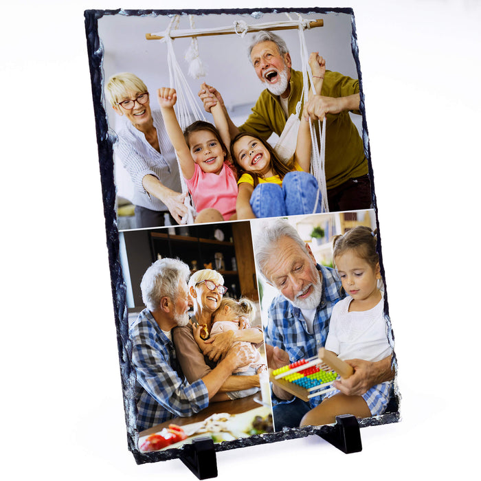Large Personalised Photo Slate - 20x30 cm design-your-gift.