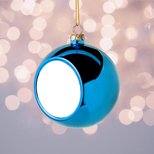 Personalised Christmas Bauble | Blue design-your-gift.