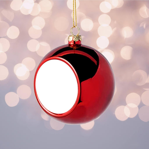 Personalised Christmas Bauble | Red design-your-gift.