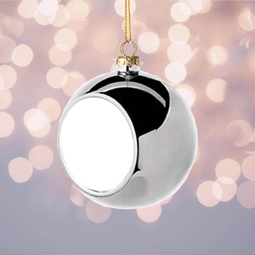 Personalised Christmas Bauble | Silver design-your-gift.