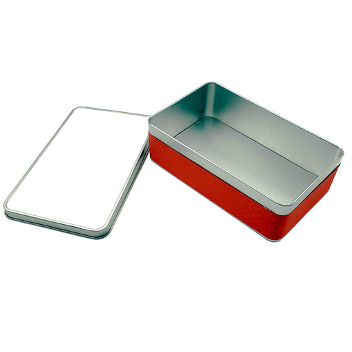 Personalised Christmas Tin - Rectangle Shaped design-your-gift.
