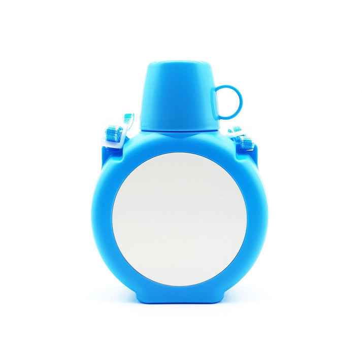 Blue personalised kids Water bottle with aluminium insert for vivid print