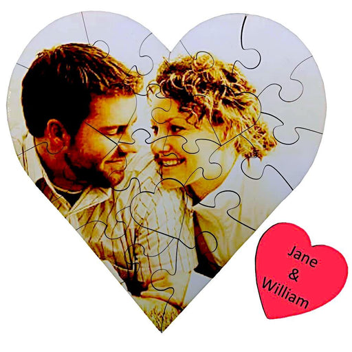 Personalised Heart Photo Puzzle