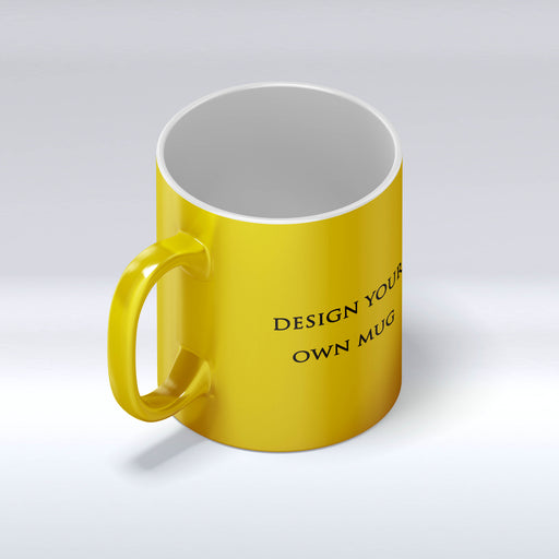 personalised gold mug front view