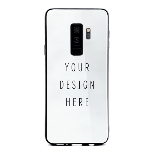 personalised Samsung Galaxy S9+ glass phone case with your own design