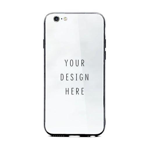personalised iphone 6/6s glass phone case with your own design