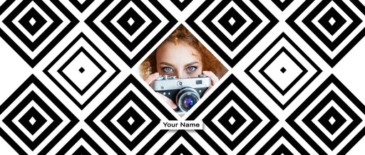 Photo and Name Mug Geometric personalised white Mug design template