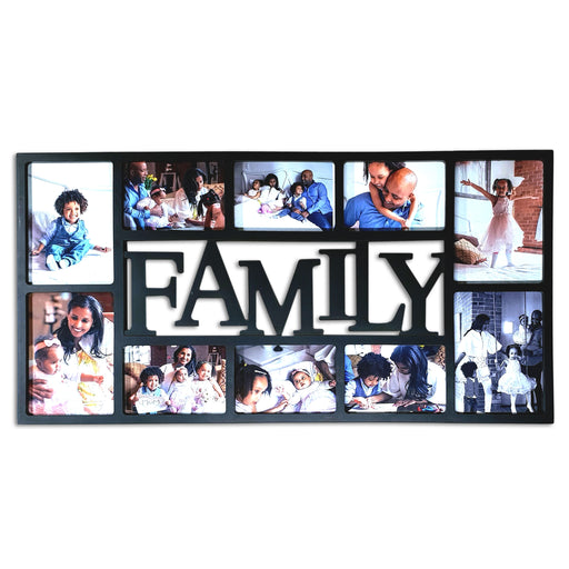 Large Family Photo Frame 10 Photos Frame with 4x6 and 5x7 photos