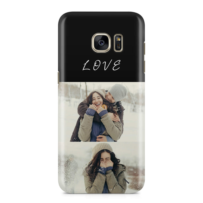 2 Photo Collage Samsung Galaxy 3D Phone Case design-your-gift.