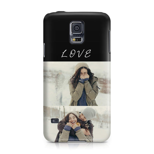 2 Photo Collage Samsung Galaxy S5 3D Personalised Phone Case designyourgift.co.uk