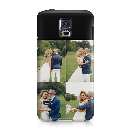 4 Photo Collage Samsung Galaxy S5 3D Personalised Phone Case designyourgift.co.uk