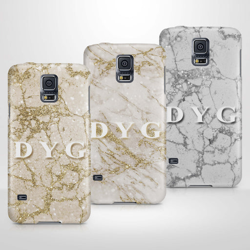 Pearl Marble With Initials Samsung Galaxy S5 3D Custom Phone Case variants