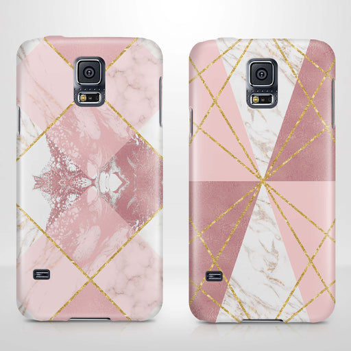 Rose Marble & Geometric Patterns Samsung Galaxy S5 3D Phone Case variants