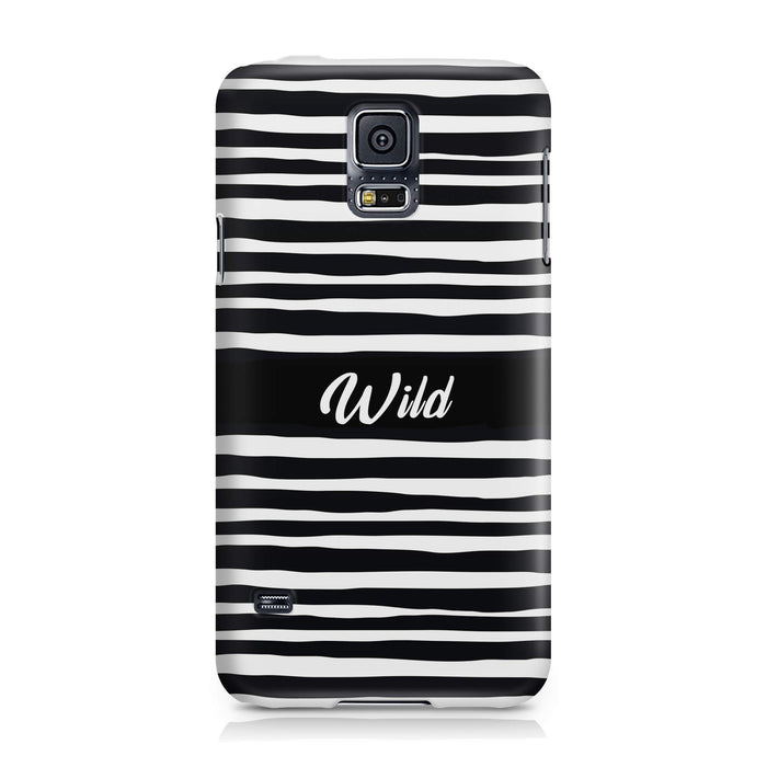 Black & White Patterns with Initial - Galaxy S5 3D Custom Phone Case design-your-gift.