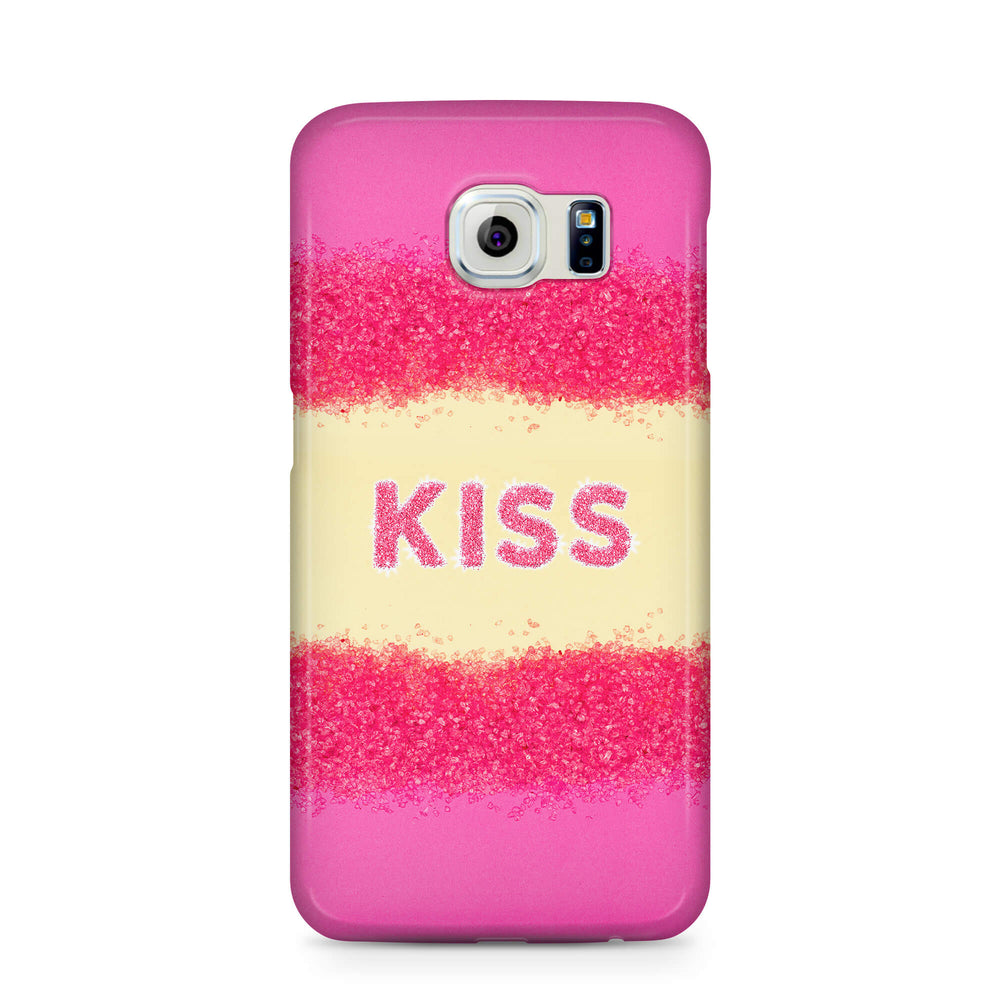 Glam Kiss Design with Name Samsung Galaxy S6 3D Custom Phone Case