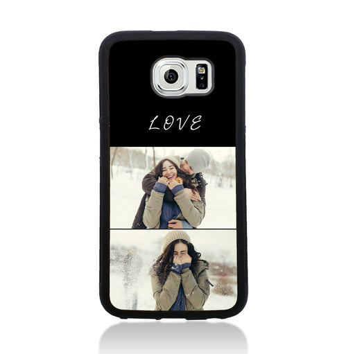 2 Photo Collage - Galaxy S6 Black Rubber Phone Case