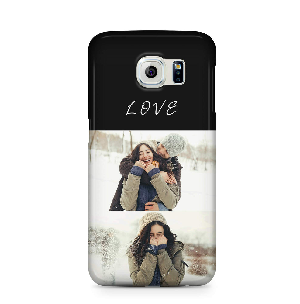 2 Photo Collage - Galaxy S6 Edge 3D Custom Phone Case design-your-gift.