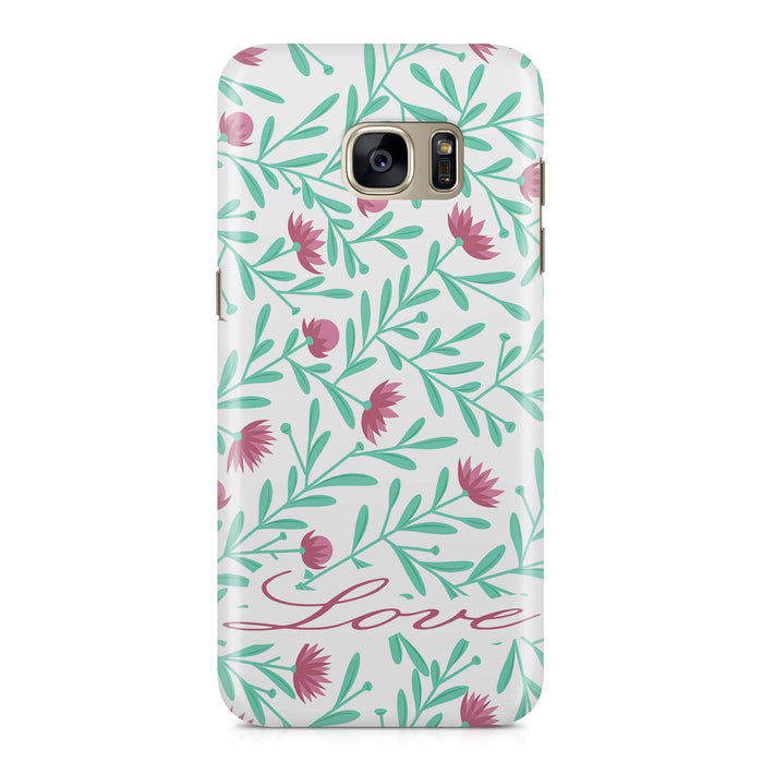 Floral Design with Name Samsung Galaxy S7 3D Custom Phone Case variant 5
