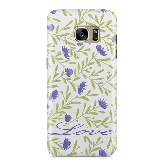 Floral Design with Name Samsung Galaxy S7 3D Custom Phone Case variant 9